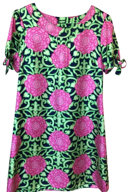 Item - Pink Navy & Green Short Night Out Dress Size 10 (M)
