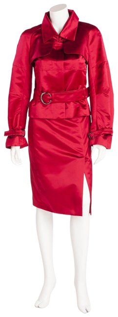Item - Red Jacket Skirt Suit Size 6 (S)
