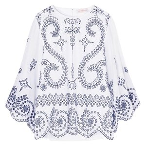 Tory Burch Top white and navy