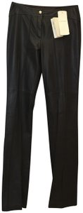 Escada Leather Inseam 36 Inches Size 6 S Small New With Tags Trouser Pants Brown