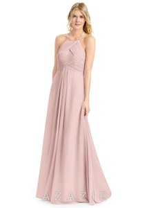 d733f91251a Azazie Dusty Rose Chiffon Ginger Formal Bridesmaid Mob Dress Size 6 (S)