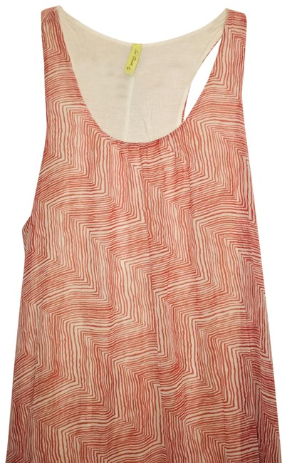 Item - Beige/Red Multi Color Long Casual Maxi Dress Size 8 (M)