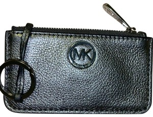 Michael Kors Crackled Metallic Leather Coin Purse