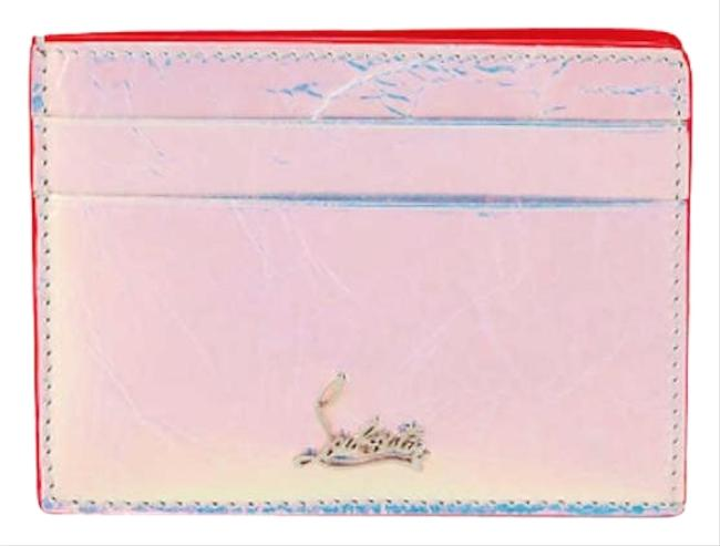 Item - Silver Leather Kios Holographic Logo Card Hold Wallet