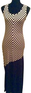 Navy/white Maxi Dress by Pink Rose