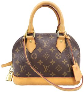 Louis Vuitton Lv Alma Bb Monogram Canvas Satchel in Brown