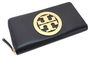 Tory Burch Black Charlie Zip Continental Wallet