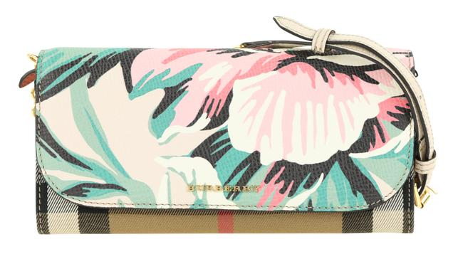 Item - Wallet on Chain Peony Rose Multicolor Cotton Clutch