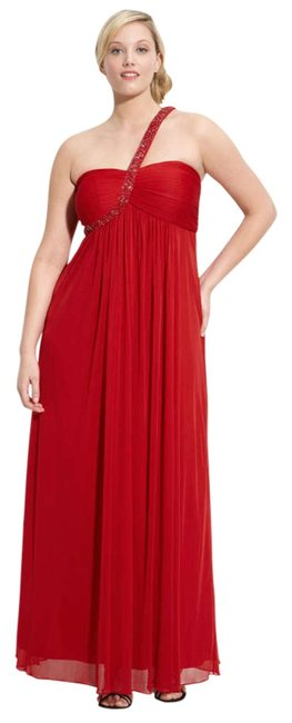 Xscape Prom Beaded One Strap Elegant Chiffon Dress