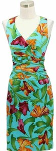 KAY UNGER short dress Blue Green on Tradesy