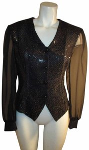Another Thyme Vintage Sparkle Jacket Oneam001 Top black