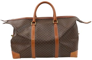 Céline Boston Duffle Carryall Keepall Cruiser Brown Travel Bag