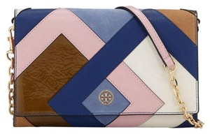 19102664472e Tory Burch Leather Color Chainlink Cross Body Bag
