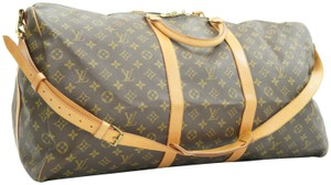 Louis Vuitton Keepall Bandouliere 60 Duffle Brown Travel Bag