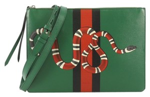f67536c443829b Gucci Clutch · Gucci. Messenger Bag Web and Snake Printed Leather Large  Clutch