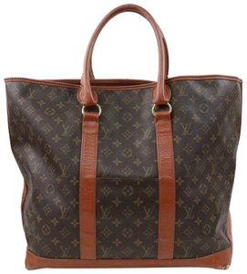 Louis Vuitton Neverfull Luco Sac Shopping Extra Large Xl Tote in Brown