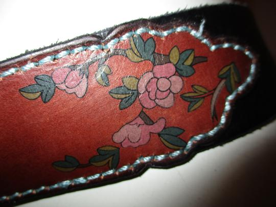 Lucky Brand painted floral leather Image 9