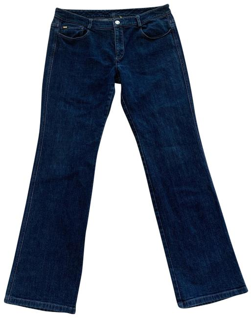 Item - Blue and Gold With Rhinestoned Pockets Boot Cut Jeans Size 12 (L, 32, 33)