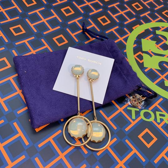 Tory Burch linear stone statement earring Image 3