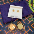 Tory Burch linear stone statement earring Image 4