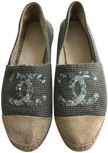 Chanel Green Mules
