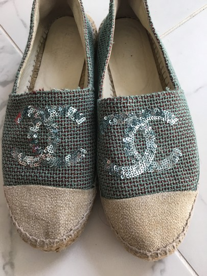 Chanel Green Mules Image 2