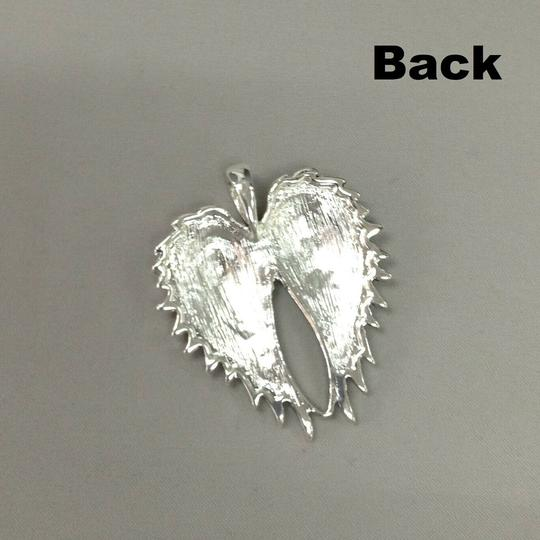 Generic Angel Wing Silver Necklace Pendant and Earrings Image 2