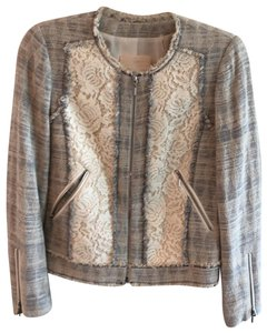 Rebecca Taylor cream, grey, blue Blazer