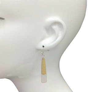 Generic Hammered Flat Bar Gold Silver Finish Hook Earrings