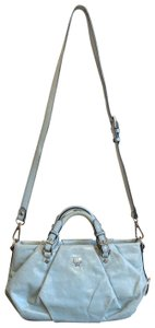 MCM Leather Studded Two Way Gucci Satchel in Light Blue