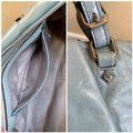MCM Leather Studded Two Way Gucci Satchel in Light Blue Image 10