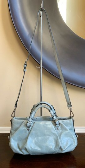 MCM Leather Studded Two Way Gucci Satchel in Light Blue Image 2