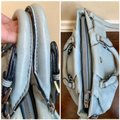 MCM Leather Studded Two Way Gucci Satchel in Light Blue Image 6