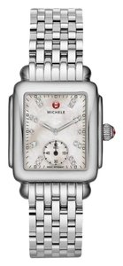 Michele Deco 16 Mid Stainless Mother of Pearl Diamond Dial MWW06V000002