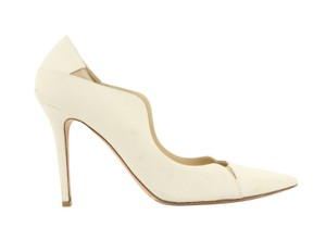 Jimmy Choo Off-white Karung Tamika White Pumps
