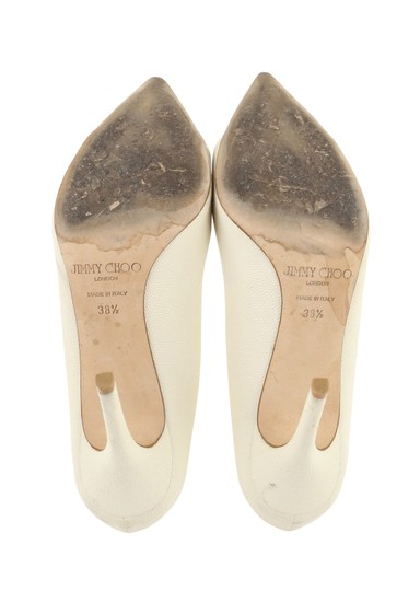 Jimmy Choo Off-white Karung Tamika White Pumps Image 10