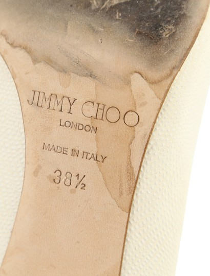 Jimmy Choo Off-white Karung Tamika White Pumps Image 11
