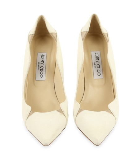 Jimmy Choo Off-white Karung Tamika White Pumps Image 2