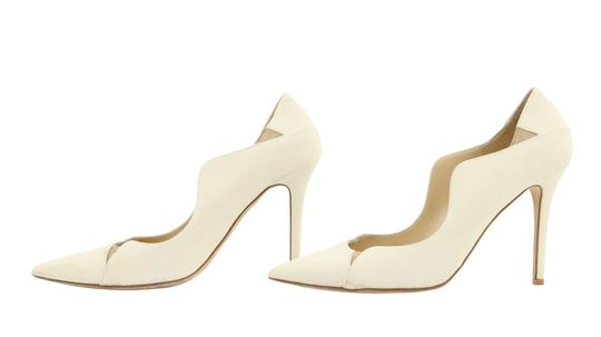 Jimmy Choo Off-white Karung Tamika White Pumps Image 4