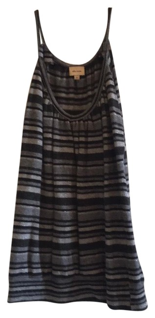 Item - Black & Shades Of Grey & Silver Wool/ Cashmere Tank Top/Cami Size 6 (S)