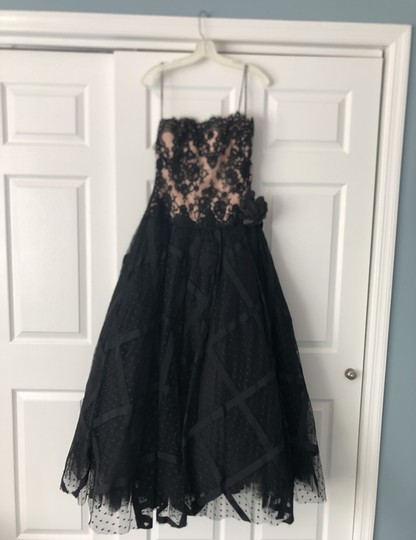 Preload https://img-static.tradesy.com/item/25404185/black-with-nude-underlay-lace-over-tulle-mother-of-the-bride-formal-bridesmaidmob-dress-size-12-l-0-0-540-540.jpg