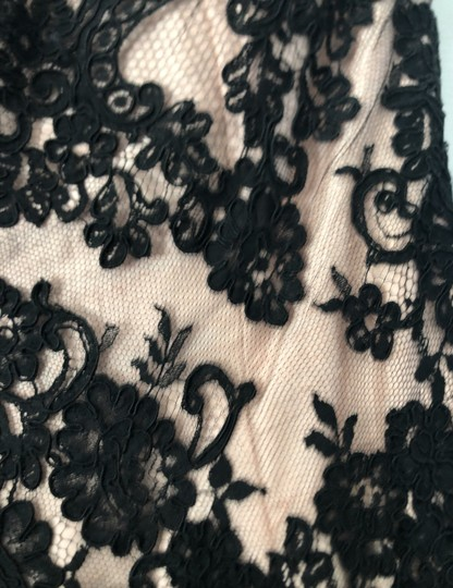 Chris Kole Black with Nude Underlay Lace Over Tulle Mother Of The Bride Formal Bridesmaid/Mob Dress Size 12 (L) Image 4