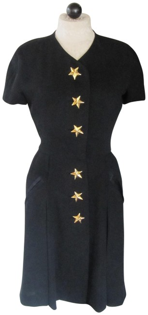 Preload https://img-static.tradesy.com/item/25404187/black-vintage-gold-star-buttons-and-cap-sleeves-short-night-out-dress-size-6-s-0-1-650-650.jpg