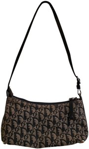 Dior Vintage Classic Canvas Exclusive Leather Hobo Bag