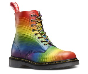 Dr. Martens Lace Up Leather Limited Edition Rainbow Boots