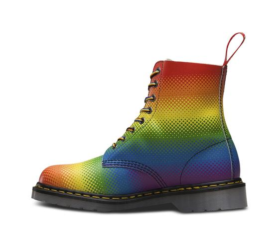 Dr. Martens Lace Up Leather Limited Edition Rainbow Boots Image 2