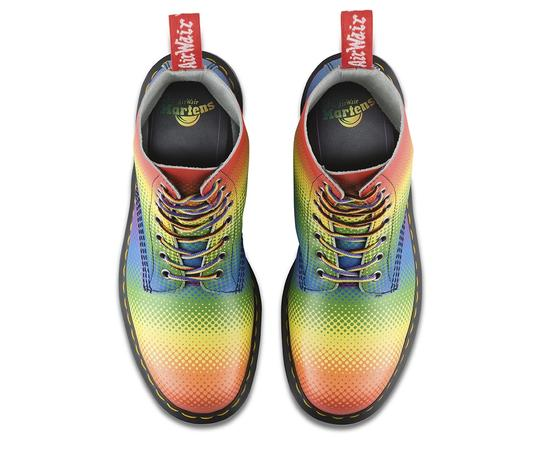 Dr. Martens Lace Up Leather Limited Edition Rainbow Boots Image 3