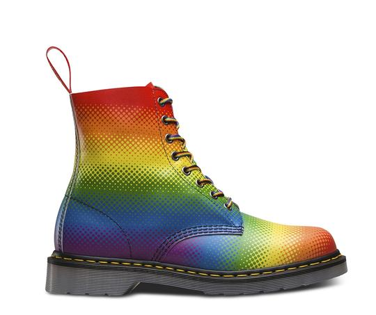 Dr. Martens Lace Up Leather Limited Edition Rainbow Boots Image 4