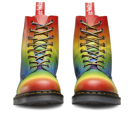 Dr. Martens Lace Up Leather Limited Edition Rainbow Boots Image 6