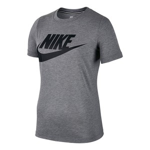 Nike Heather Logo Crew T Shirt grey/black